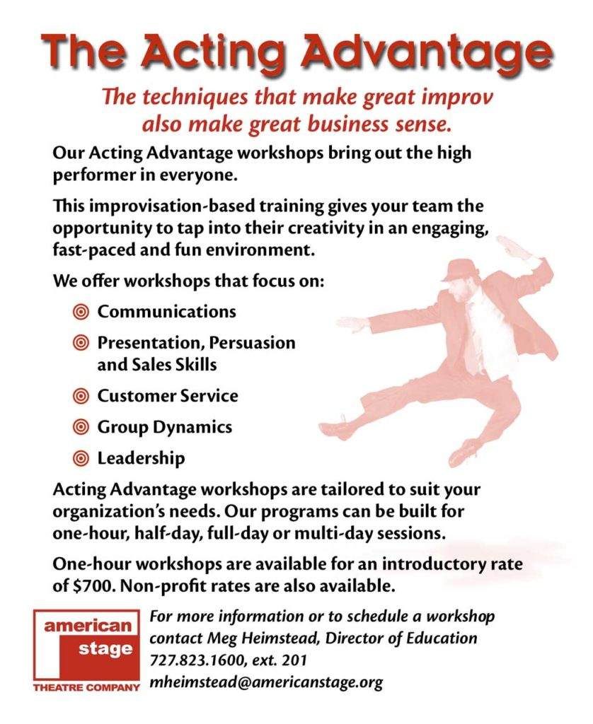 American Stage Acting Advantage Card (back)